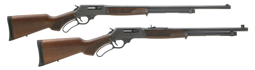 a picture of a herny 410 lever action shotgun