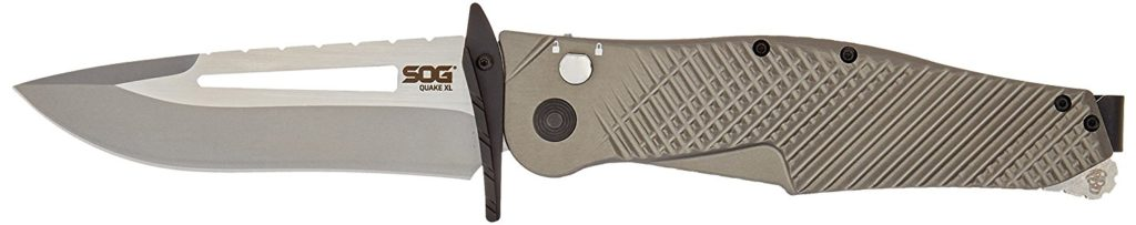 a picture of a SOG quake XL assisted folding knife