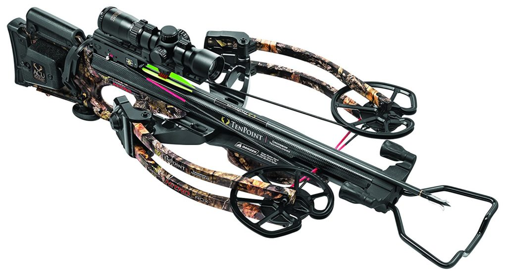 a picture of a ten point carbon nitro rdx crossbow