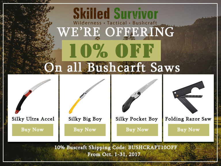 10% OFF Discount on Bushcraft Saws Product